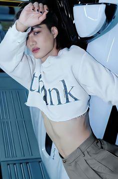 Dope Fashion, New Fashion, Sekai Exo, Kim Kai, Half Shirts, Kim Jongin, Exo Korean, Body Poses, Pretty Men