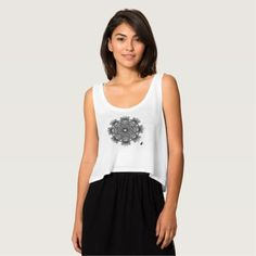 Inspiration Octa Glyph Flowy Crop Tank Top features a glyphic design that echoes the ancient and mystic runes of past civilizations. This unique glyph has been constructed from a single word (Inspiration) using modern typography in an octagonal configuration. 40% OFF T's & Tats – Use Checkout CODE: ZSUNSTEAL143 until Midnite 8-07-16 Over 2700 products at my Zazzle online store. Open 24/7 World wide! http://www.zazzle.com/greg_lloyd_arts*?rf=238198296477835081