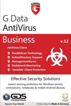 G Data AntiVirus Business 12 for Windows Server - 25 Seats for 3 Years -   DoubleScan Virus Detection Technology  Gives you two lines of defense against malware, consistently detecting 99.97% of all known and unknown malware NEW! Full ActiveDirectory support to import existing groups and to allow automatic client installations Network-wide (LAN/WAN)... - http://softwaredownloaddeals.com/g-data-antivirus-business-12-for-windows-server-25-seats-for-3-years/ - http://soft