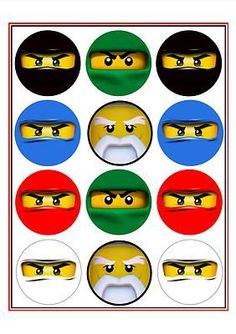 Print these and stick them on water bottles etc - Trend Photography Lego 2019 Lego Ninjago, Ninjago Party, Ninja Birthday Parties, Boy Birthday, Lego Parties, Festa Ninja Go, Toy History, Deco Lego, Birthday Greetings For Daughter