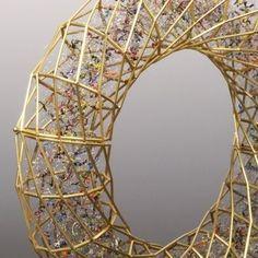 Bracelet | Giovanni Corvaja.  'Enamel bracelet ~ 2010'
