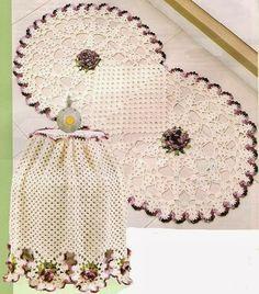 As Receitas de Crochê: Jogo de cozinha de crochê                              …