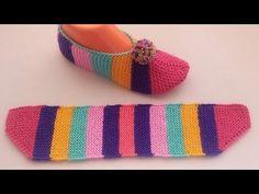 gökkuşağı patik / EN Kolay Patik modeli /kalan ipleri değerlendirelim - You. Baby Cardigan Knitting Pattern Free, Easy Knitting, Knitting Socks, Knitting Patterns, Crochet Shoes, Crochet Yarn, Denim Tote Bags, Knitted Slippers, Booty