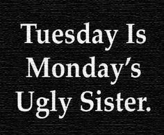 Tuesday is Mondays Older Sister quotes quote monday days of the week tuesday tuesday quotes monday quotes happy tuesday tuesday quote Monday Quotes, Me Quotes, Funny Quotes, Tuesday Quotes Funny, Tuesday Humor, Sister Quotes, Work Quotes, Funny Memes, Weekday Quotes
