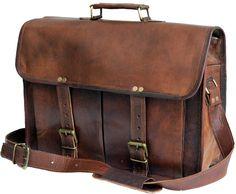 60.00$  Buy here - http://vixru.justgood.pw/vig/item.php?t=lkjs5ym3759 - Handmade Vintage Leather Satchel And Briefcase (11x15) 60.00$