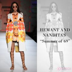 Hemant & Nandita relive the magic of romance in 60's and flower power in their shirts and suiting fabrics.