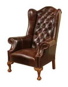 Hill Country Wing Back Chair Western Accent Chairs