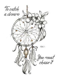 Dreamcatcher 1 by SparkleScraps on DeviantArt Atrapasueños Tattoo, Lion Tattoo, Body Art Tattoos, Tattoo Drawings, Small Tattoos, Dove Tattoos, Tattoos Skull, Tattoo Moon, Tattoo Fonts