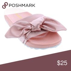 Blush Slip on Sandals So comfortable, wear these anywhere. Blush color. Slip on style sandals. Shoes Sandals