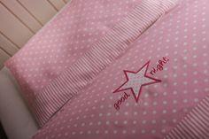"""baby - Bettwäsche """"Stern""""  rosa von Comoara bebe auf DaWanda.com"""