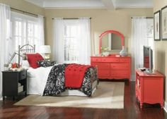 Amazing Red Accents In Bedrooms U2013 34 Stylish Ideas : Red Accents In Bedrooms  34 Stylish Ideas With Brown White Black Red Wall Bed Pillow Blanket Lamp  Window ...