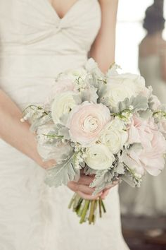 Ranoculus & Dusty Miller Bouquet More