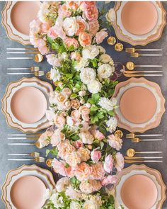 In love with setting a beautiful table- for a special occasion or an everyday occasion. And this table with those florals? A complete…