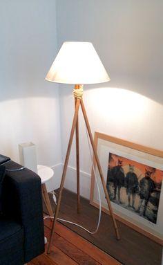 Lampe pieds en bois et corde  #mydiy #homemade