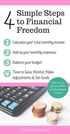 Would you like to worry less about your money? Having a budget takes the stress out of paying bills and you get to watch your savings grow no matter what your income level is. Here are 4 simple steps you can take to create a budget. Money Saving Ideas | On a Budget | Paying Off Debt
