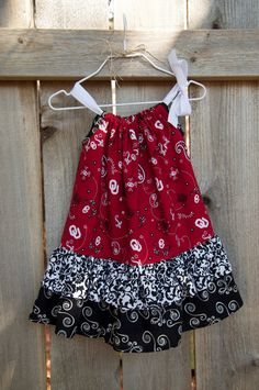 Oklahoma OU Sooners Double Ruffle Pillowcase Dress - Sizes 6-12 months to Girls 6 - made to order. $28.00, via Etsy.