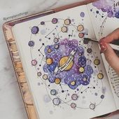12 Galaxy and Space Themed Bullet Journal Spread – … 12 Galaxy and Space Themed Bullet Journal Spread – One of the best bujo tracker ideas I have ever encountered. The post 12 Galaxy and Space Themed Bullet Journal Spread – … appeared first on Welcome! Bullet Journal Inspo, Bullet Journal Tracker, Bullet Journal Notebook, Bullet Journal Spread, Bullet Journal Ideas Pages, Journal Pages, Album Journal, Scrapbook Journal, Journal Layout