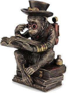 Steampunk Scholar Chimpanzee Art Statue