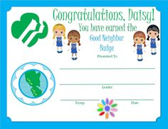 Daisy Safety Award Certificate Understand what to do if you get lost. Girl Scout Leader, Girl Scout Troop, Brownie Girl Scouts, Girl Scout Cookies, Cub Scouts, Girl Scout Daisy Activities, Girl Scout Crafts, My Promise My Faith, Girl Scout Levels