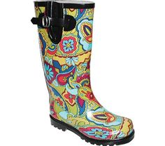 Paisley printed rainboot for bad weather days