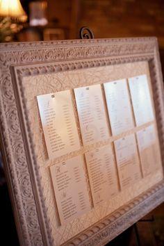 Take A Seat - seating chart at Hacienda Sarria #wedding