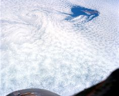Cloud patterns seen over Baja California, Mexico, from Gemini V in orbit in August of 1965. (NASA/JSC/ASU) #