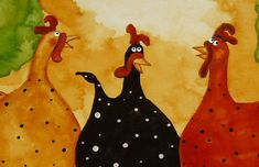 Hubbs Children Art Folk Prints Farm Animals Cow by DebiHubbs