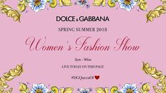 Join us at 2pm today to watch the live streaming of the Spring Summer 2018 Women's Fashion Show. #DGSS18 #mfw #DGQueenOf  via DOLCE & GABBANA OFFICIAL INSTAGRAM - Celebrity  Fashion  Haute Couture  Advertising  Culture  Beauty  Editorial Photography  Magazine Covers  Supermodels  Runway Models