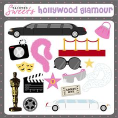 Hollywood Glamour by danger0usangel03 on Etsy, $5.00 #hollywood #glamour #clipart #printables #taintedsweets