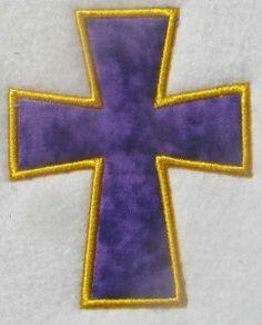 Free Embroidery Design: Cross Applique - I Sew Free