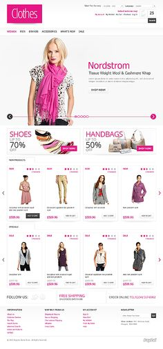Custom eCommerce design and web development using Magento, oscommerce, WordPress and Php by Auckland based company TechIdea, New Zealand - call now Web Layout, Layout Design, Fashion Website Design, Ecommerce Website Design, Responsive Web, Web Design Inspiration, Coffee Break, Website Template, Apps