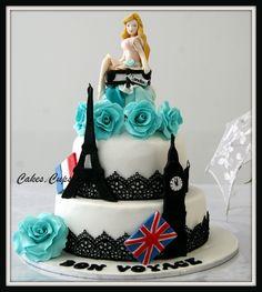 Bon Voyage cake all elements handmade and edilbe