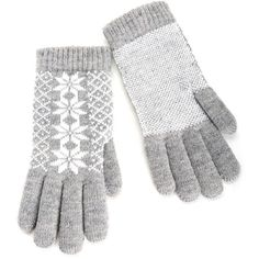 Gray Cozy Gloves (860 INR) ❤ liked on Polyvore featuring accessories, gloves, gray gloves and grey gloves