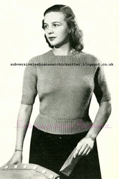 Free 1940's Knitting pattern for Cozy for Cold Days Sweater Bestway K124