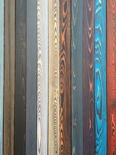 SHOU SUGI BAN colors charred wood