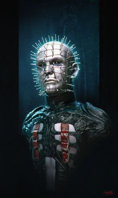 Pinhead by sandara necronomicon chains hellraiser clive ...