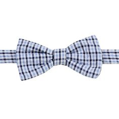juDanzy Blue Plaid Bow Tie