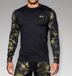 Men's UA ColdGear® Evo Night Vision Hybrid Mock | Under Armour US