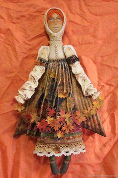 Купить Осенние вихри...Ангел - комбинированный, текстильная кукла, ароматизированная кукла, интерьерная кукла, осень