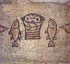 Loaves and Fishes Mosaic  Near Sea of Galilee Restored