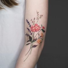 20+ Wonderful Wildflower Tattoo Ideas #TattooIdeasFlower