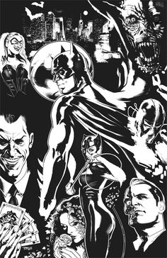 Batman - incomplete cover by *TorqueArtStudio (Awesome even though Two-Face is switched)