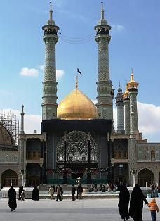 The mosque and shrine of Fatemah Masoumeh in Qom, Iran