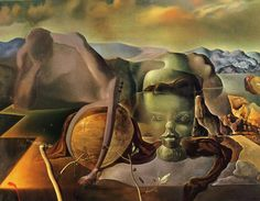 """Salvador Dalí ~ """"The Endless Enigma"""", 1938 This masterpiece is probably the best example of paranoiac-critical activity in operation in the paintings done by Dali. Salvador Dali Gemälde, Salvador Dali Paintings, Wassily Kandinsky, Dali Prints, Dali Artwork, Dom Quixote, Art Sur Toile, Kunst Online, Piet Mondrian"""