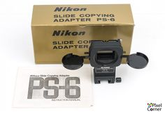 Nikon PS-6 Slide Copying Adapter for PB-6 Bellows Boxed Mint
