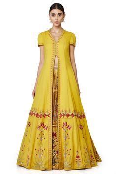 The Aaleeshaan Jacket & Skirt - waliajoness - 1