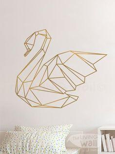 Geometric Swan Wall Sticker Home Decor Wall Decals by LivingWall