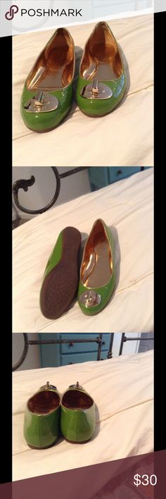 Coach green patent flat shoes Size 5 green patent coach flats . Coach Shoes Flats & Loafers