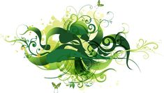 Green abstract with floral and swirl pattern – vector background. Background Hd Wallpaper, Vector Background, Wallpaper Backgrounds, Backdrop Background, Wallpapers, Vector Free Download, Free Vector Graphics, Typography Design, Art Images