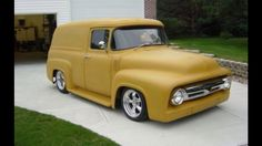 ford panel truck hot rod pictures this is the truck I want and the color is pretty sweet too! want the same color for my motorcycle tins. 56 Ford Truck, Old Ford Trucks, Pickup Trucks, Ford 4x4, Lifted Trucks, Hot Rod Trucks, Cool Trucks, Rat Rods, Station Wagon